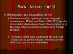 social factors cont d2