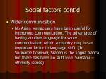 social factors cont d7