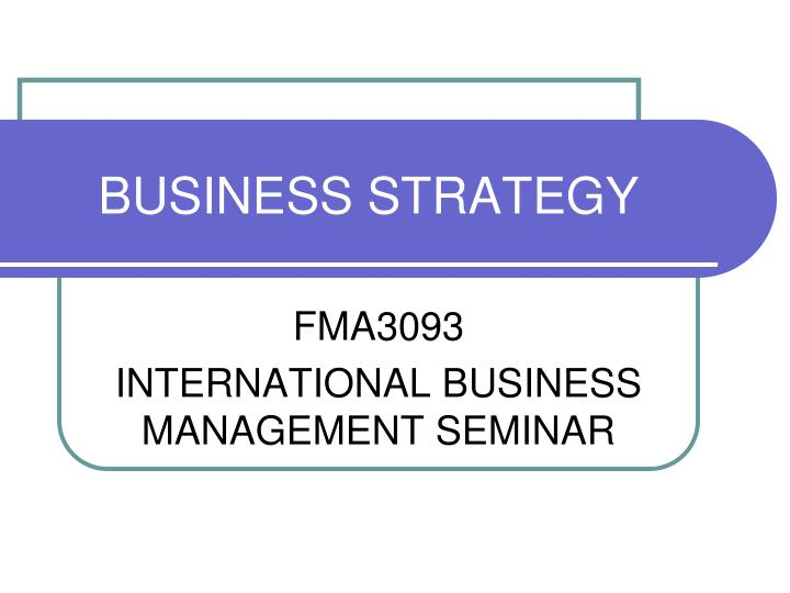 business strategy n.