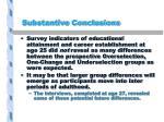 substantive conclusions1