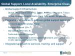 global support local availability enterprise class