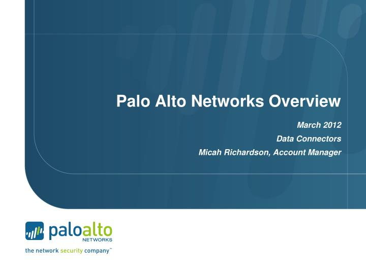 palo alto networks overview n.