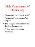 main components of physiocracy