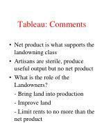 tableau comments