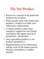 the net product