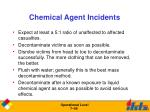 chemical agent incidents