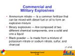 commercial and military explosives