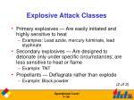 explosive attack classes1