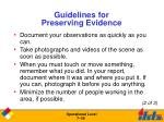 guidelines for preserving evidence1