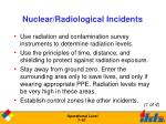 nuclear radiological incidents