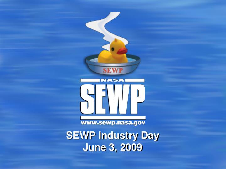 sewp industry day june 3 2009 n.