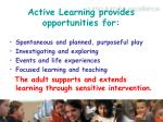 active learning provides opportunities for