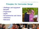 principles for curriculum design