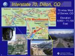 interstate 70 dillon co