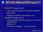 nchrp research projects