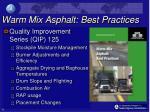 warm mix asphalt best practices