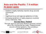 asia and the pacific 7 4 million plwhiv aids