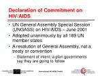 declaration of commitment on hiv aids