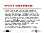 fund the fund campaign