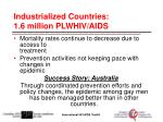 industrialized countries 1 6 million plwhiv aids