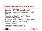organizations canada