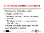 strategies national state level