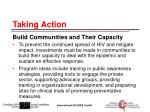 taking action build communities and their capacity
