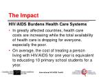 the impact hiv aids burdens health care systems