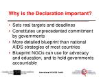why is the declaration important