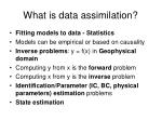 what is data assimilation