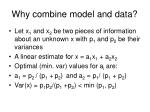 why combine model and data
