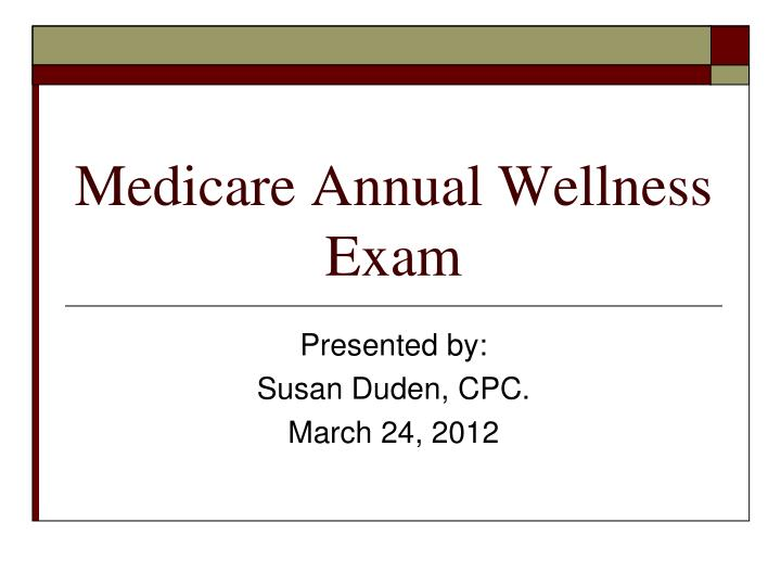 medicare annual wellness exam n.