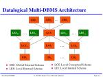datalogical multi dbms architecture