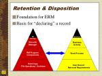retention disposition