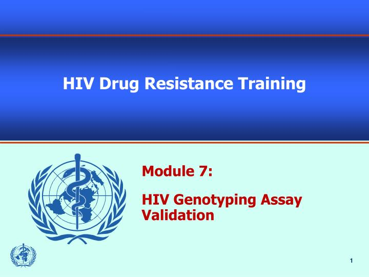 hiv drug resistance training n.