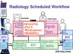 radiology scheduled workflow