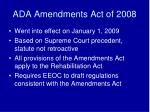 ada amendments act of 2008