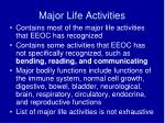 major life activities