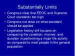 substantially limits