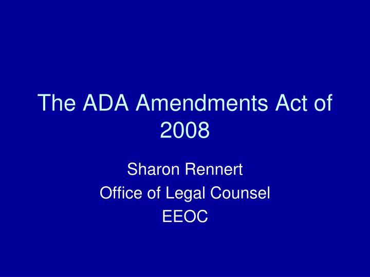 the ada amendments act of 2008 n.