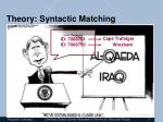 theory syntactic matching