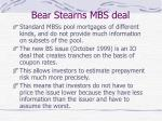 bear stearns mbs deal