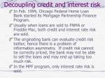 decoupling credit and interest risk