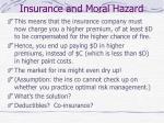 insurance and moral hazard