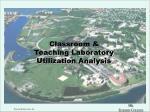 classroom teaching laboratory utilization analysis