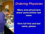 ordering physician