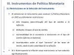 iii instrumentos de pol tica monetaria