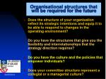 organisational structures that will be required for the future