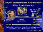 disruptive business models implementation1