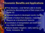 economic benefits and applications